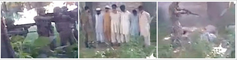 screenshot from NYTimes of Pakistan execution video
